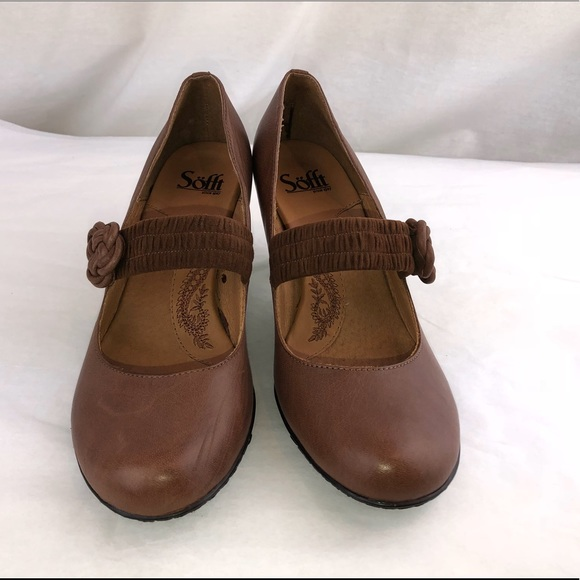 8894f9f0155 Sofft corine Brown genuine leather Marry Jane 8M